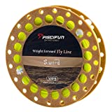 Piscifun Sword Weight Forward Floating Fly Fishing Line with Welded Loop WF5wt 100FT Fluorescent Yellow