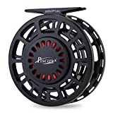 Piscifun Platte Fully Sealed Drag Large Arbor Fly Fishing Reel with CNC-machined Aluminum Alloy Body 5/6 Black