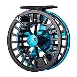 Piscifun Aoka Fly Fishing Reels with Cork/Teflon Disc Drag System 5 6 wt Blue