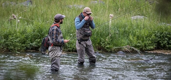 Fly Fishing with vests