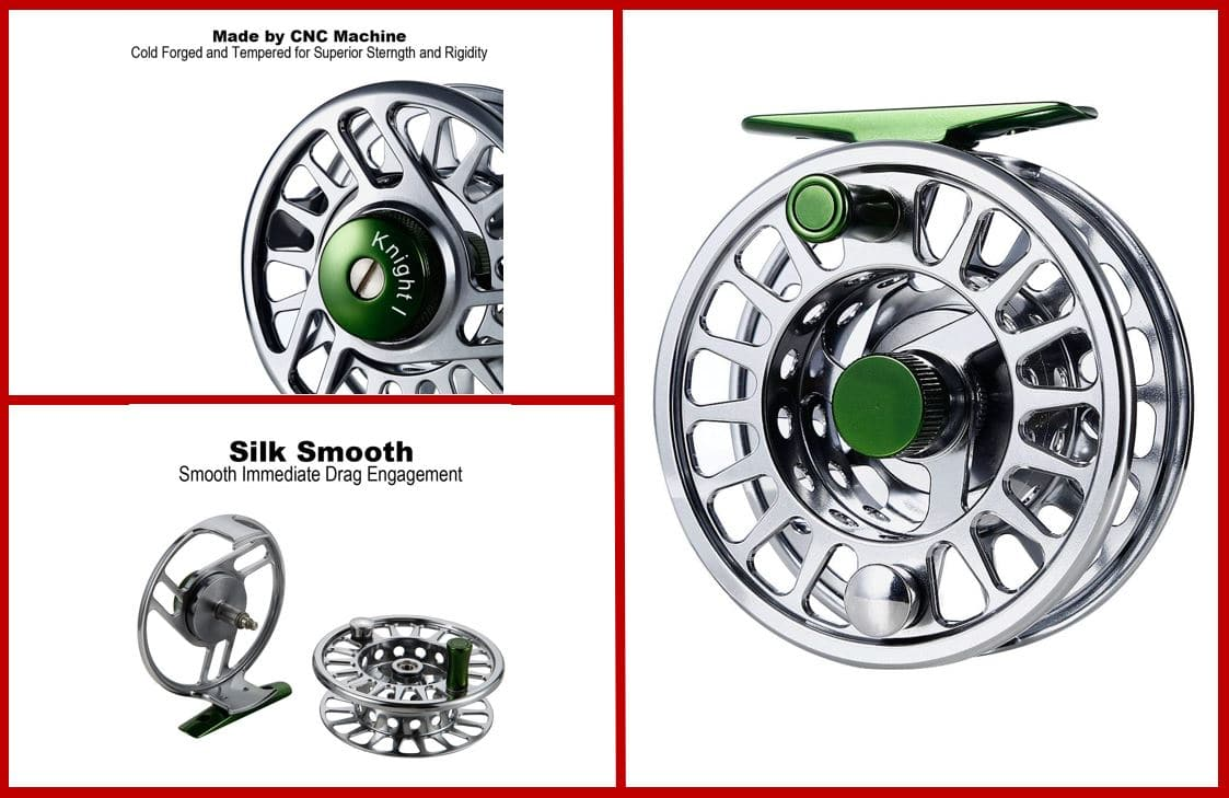Bluefied fly fishing reel
