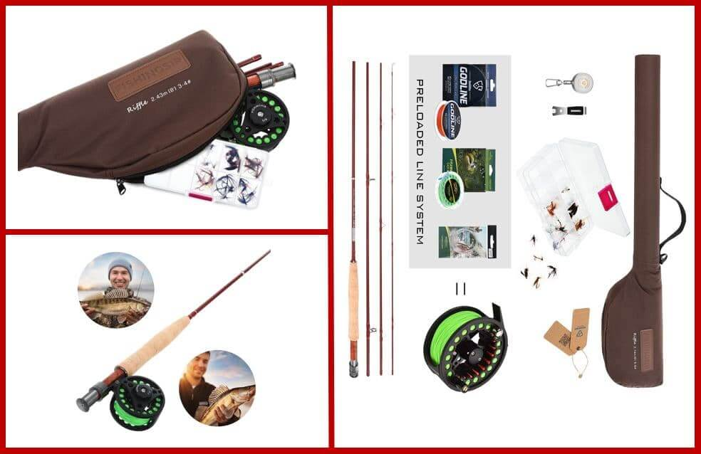 FISHINGSIR Fly Fishing Rod and Reel Combo
