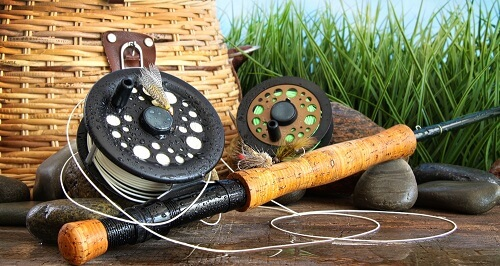 Fishing line and reel