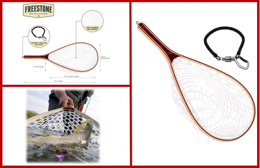 Fly Fishing Rubber Mesh Net