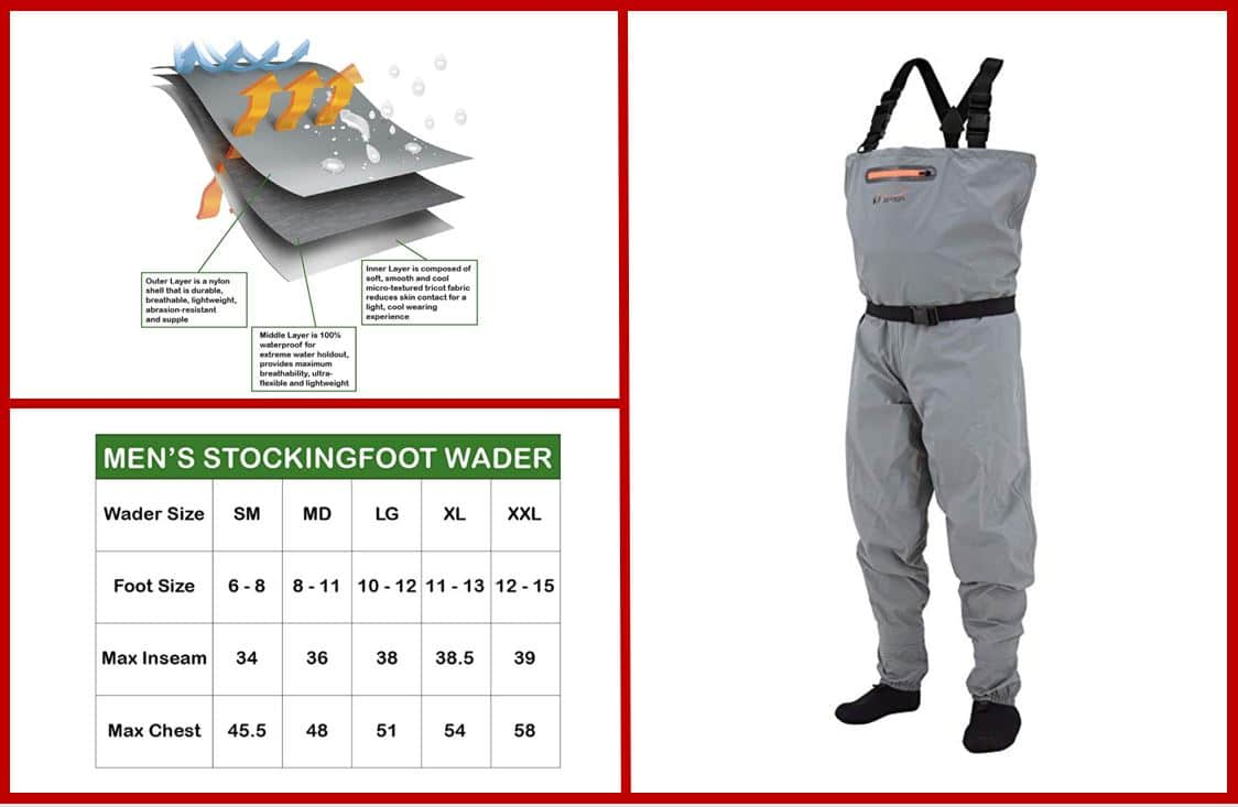 Frogg Toggs Canyon II Stockingfoot Chest Wader