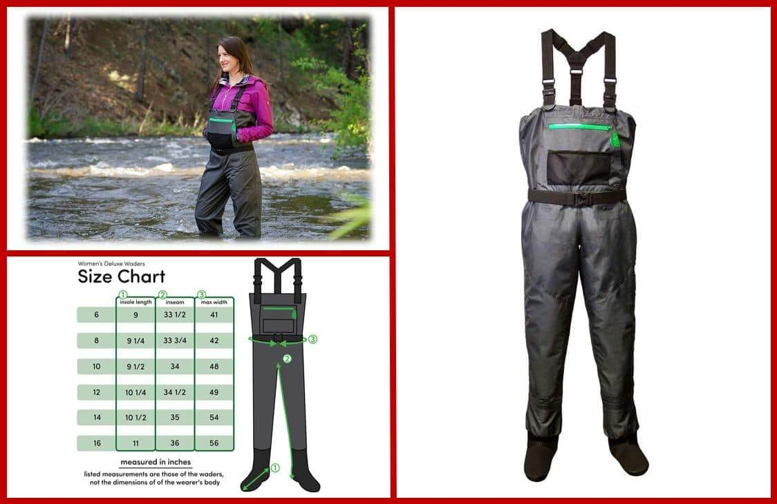 LONECONE Women's Deluxe Stockingfoot Chest Wader