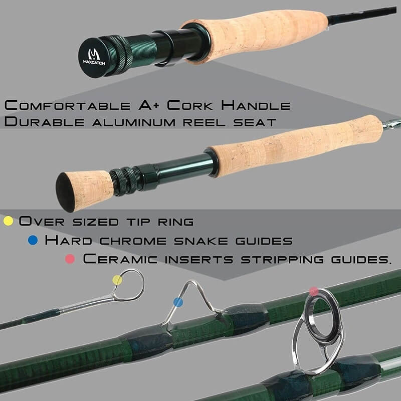 M MAXIMUMCATCH Extreme Graphite Fly Fishing Rod