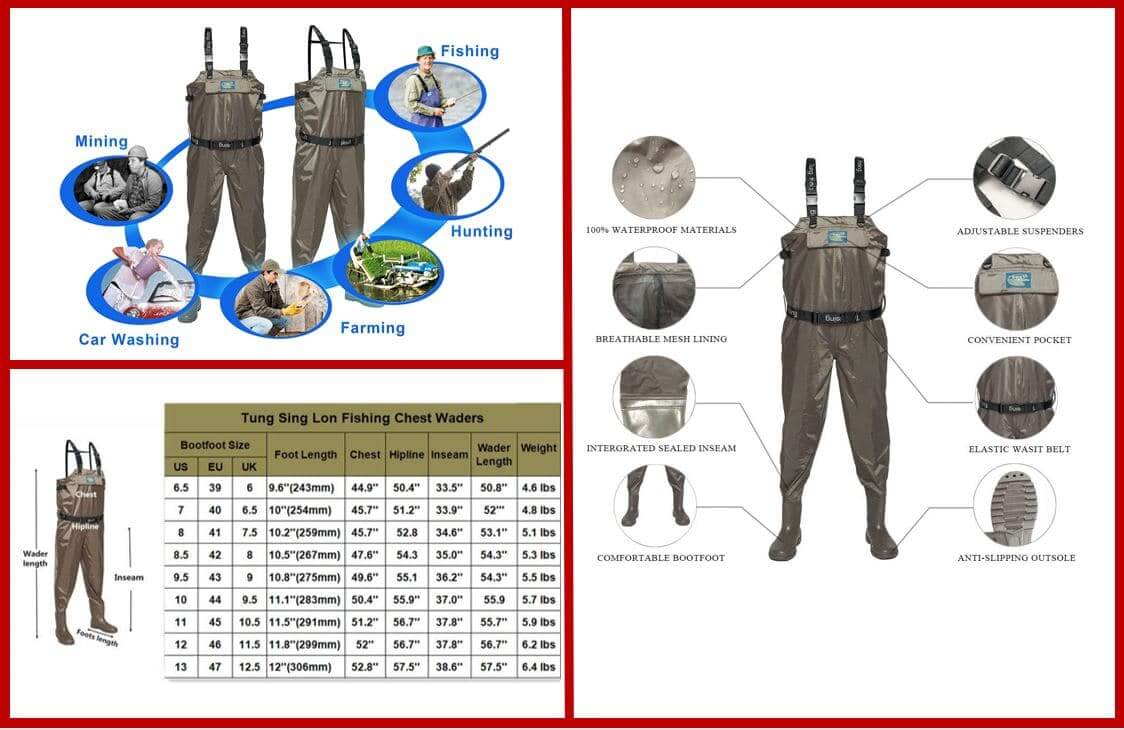 Tung Hsing Lon Fly Fishing Waders