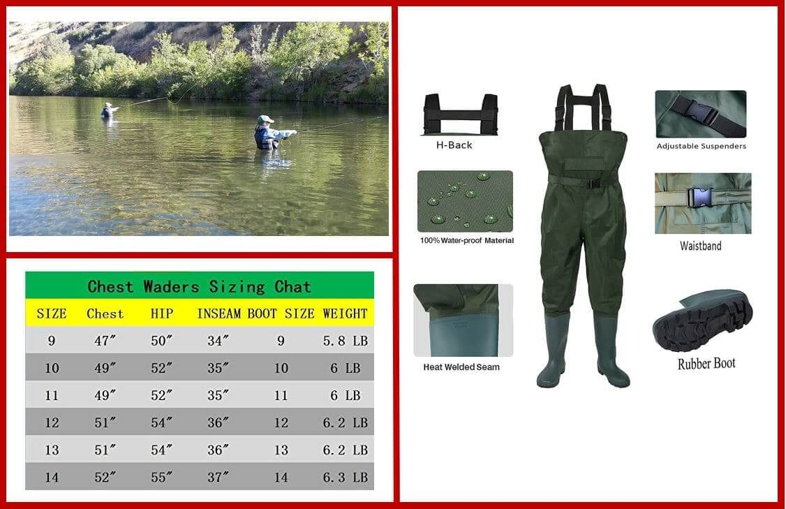 no!no!! Cleated Bootfoot Chest Fishing Wader